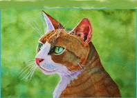 Bueller cat paintings