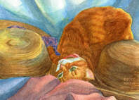 manx cat painting