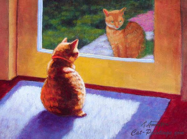 Original Manx Cat Painting On Acrylic