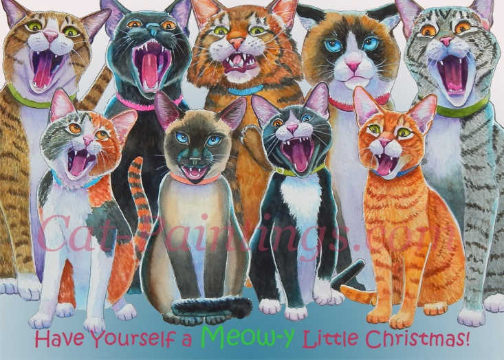 Christmas cats maine coon cat christmas card m4hsunfo