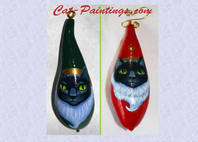 christmas cat gourd ornaments
