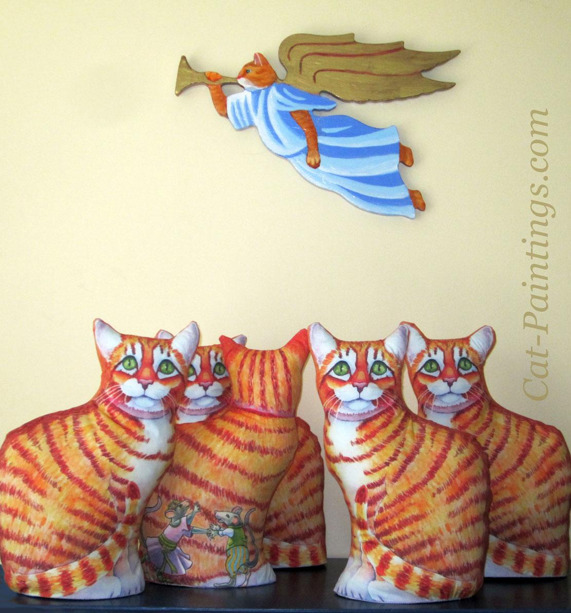 Diy cat pillow tutorial sewing pattern stand alone pillow orange tabby cat jeuxipadfo Gallery