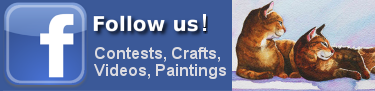 Follow us on Facebook for new paintings, crafts, videos and contests