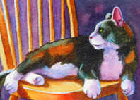 calico cat small format art