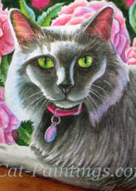Cat Portrait Commision of Gracie