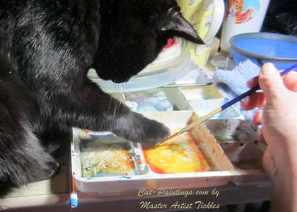 kitten Art Lessons